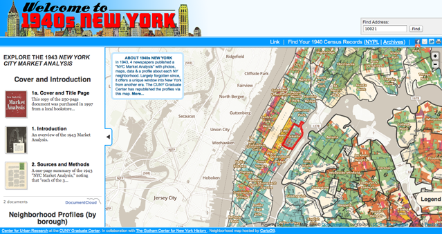 the neighborhood map is hosted by cartodb documentcloud provides easy access to the entire