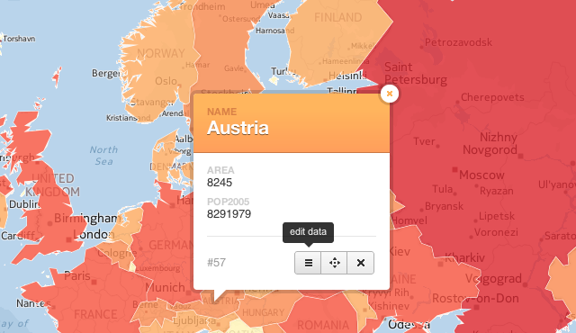 Open feature metadata window CartoDB