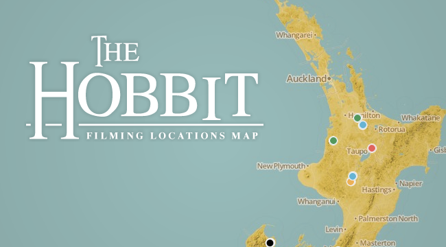 The Hobbit Locations map